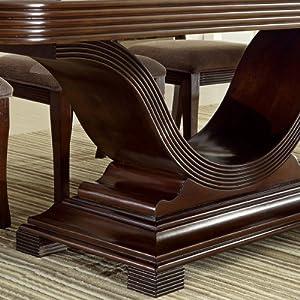 Woodmont Solid Wood Walnut Finish Formal 9-Piece Dining Set
