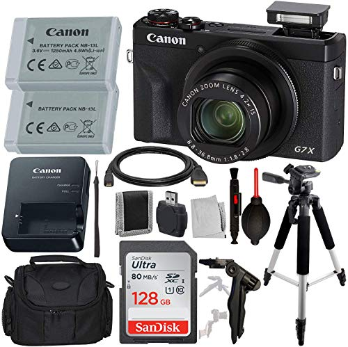 Canon PowerShot G7 X Mark III Digital Camera with Advanced Accessory Bundle – Includes: SanDisk Ultra 128 GB SDXC Memory…