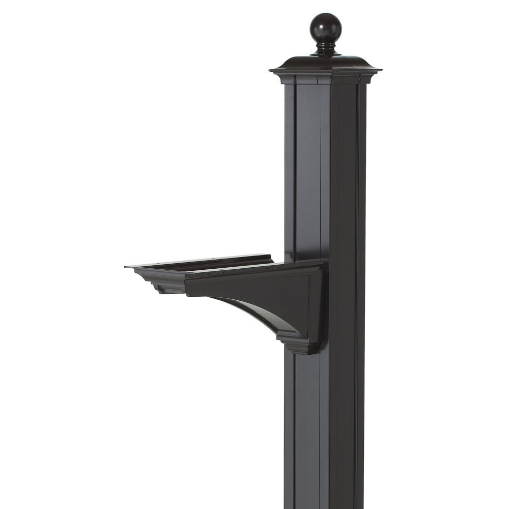 Balmoral Deluxe Post and Bracket with Finial in Black by Whitehall