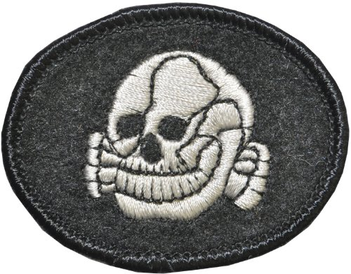 WMU 562248 Sew-On Black Patch with White Skull