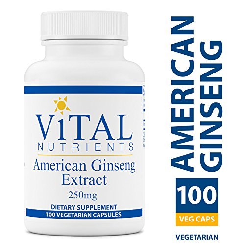 Vital Nutrients – American Ginseng 250 mg – Energy Support – 100 Vegetarian Capsules