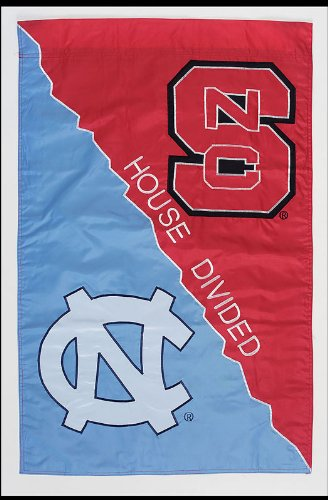 North Carolina Tar Heels Official NCAA 28 inch x 44 inch House Divided House Flag by Evergreen