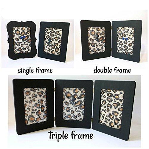 Single, Double, or Triple Leopard Print Burlap Earring Holder