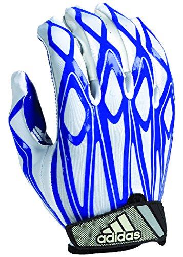 Gloves Adidas Athletic (adidas Youth Filthy Quick Football Gloves, White/Royal, Medium)