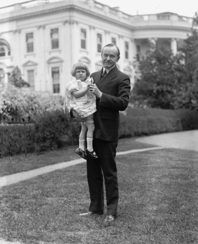 1925 photo Coolidge and Louise Sheaffer Vintage Black & White Photograph g1