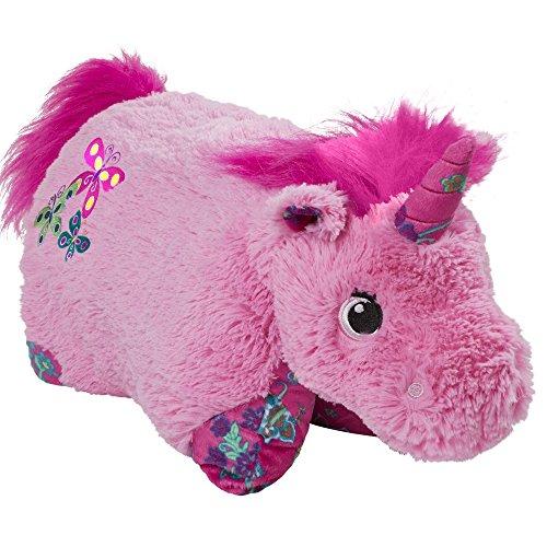 """Pillow Pets Pink Unicorn Colorful, 18"""" Stuffed Animal Plush Toy"""
