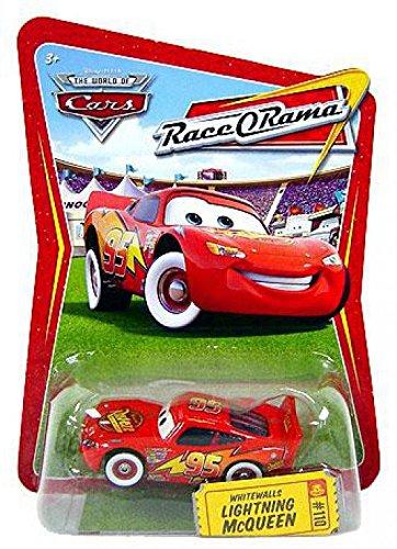Disney / Pixar CARS Movie 1:55 Die Cast Car Series 4 Race-O-Rama Whitewalls Lightning McQueen ()