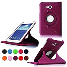 Cover Samsung Galaxy Tab 3 Lite 7.0 Tablet Case,Galaxy Tab3 7 inch Case,360 Rotating Leather Protective Case for Samsung Galaxy Tab 3 Lite 7.0 SM-t110 Case,Purple