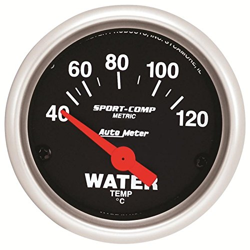 Autometer Sport-Comp 52mm 40-120 Degree Short Sweep Electronic Water Temperature Gauge (am3337-M)