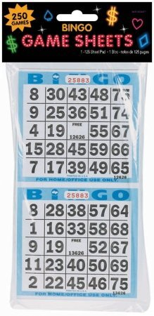 Bingo Game Sheets 125ct by Party America
