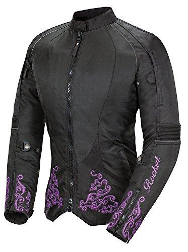 Joe Rocket Heartbreaker 3 0 Womens Textile Motorcycle Jacket  Black Purple  X Small
