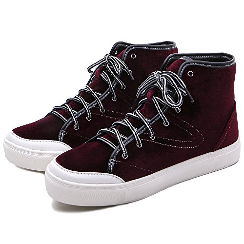 Tongpu Damesmode Sneakers Kanten Leren Damesschoenen Paars