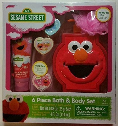 Sesame Street Elmo 6 Piece Bath & Body Gift Set ()