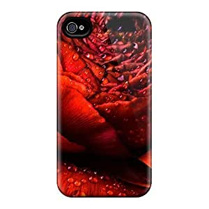 BretPrice DOl2847XfiF Case For Samsung Note 4 Cover Protective Case Wet Red Rose