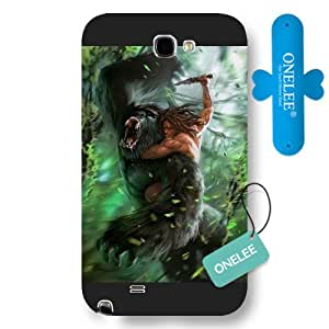 Onelee Customized Black Hard Plastic Disney Cartoon Tarzan Samsung Galaxy Note 2 Case