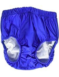 "My Pool Pal 3UP02M Swim-Sters Reusable Youth Swim Diaper, Medium, 10/12"" Size, Royal Blue"