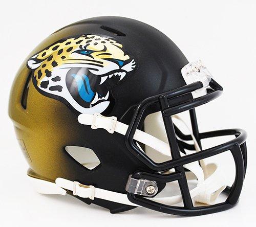 Fiber Optic Helmet Replica (Riddell NFL Jacksonville Jaguars Speed Mini Helmet)