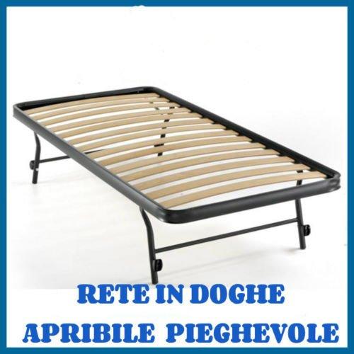 Rete Letto Pieghevole.Rete A Doghe Strette Estraibile Per Letto Singolo 80x185 Ortopedica Apribile Pieghevole 185 Centimetri