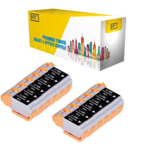 New York Toner New Compatible 12 Pack BCI-11BK Black High Yield Inkjet For - BJCAN-70 . -- - Bci 11bk Inkjet