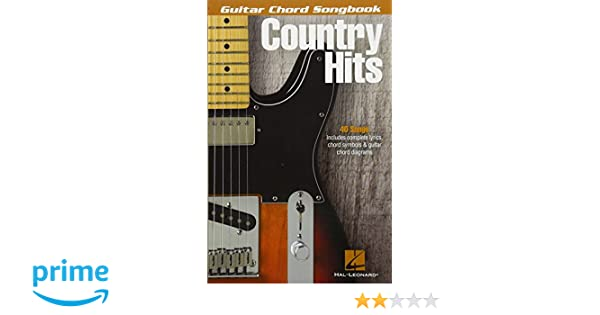 Amazon.com: Country Hits - Guitar Chord Songbook (9781495008177 ...