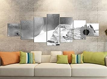 Amazon De Leinwandbilder 7 Tlg 280x100cm Schwarz Obst Apfel Kuchen
