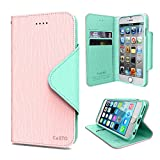 Cellto Apple iPhone 6 Premium Wallet Case [Dual Magnetic Flap] Diary Cover High Quality PU Leather+ Life Time Warranty - Baby Pink