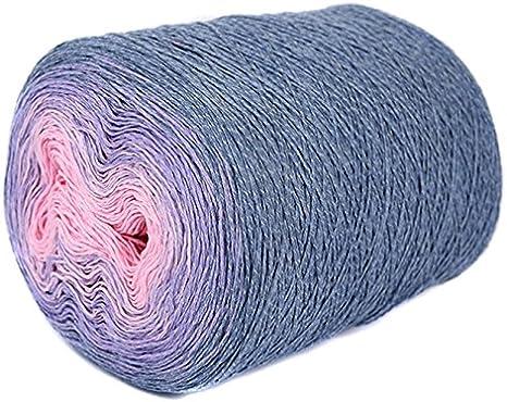 Ovillo de lana ombre único, multicolor. Maravilloso rollo de ...