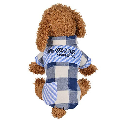 - Hpapadks Plaid Shirt Coat,Adorable Winter Warm Padded Thickening Plaid Shirt Dog Costumes Pet Clothes Warm Dog Clothes