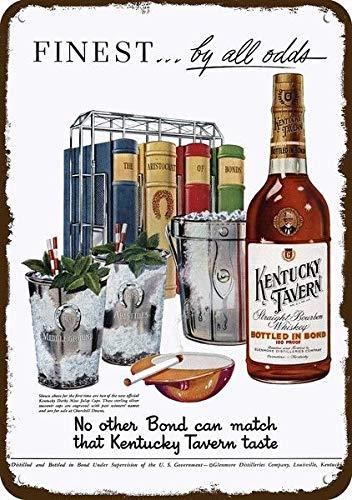 Yilooom 1951 Kentucky Tavern Whiskey Vintage Look Replica Metal Sign 7