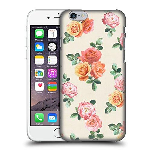 Officiel Micklyn Le Feuvre Pêche et Roses Roses Florals Étui Coque D'Arrière Rigide Pour Apple iPhone 6 / 6s