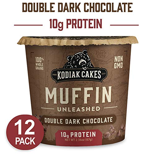 Kodiak Cakes Minute Muffins, Double Dark Chocolate, 2.36 Ounce (Pack of 12) (Packaging May Vary)
