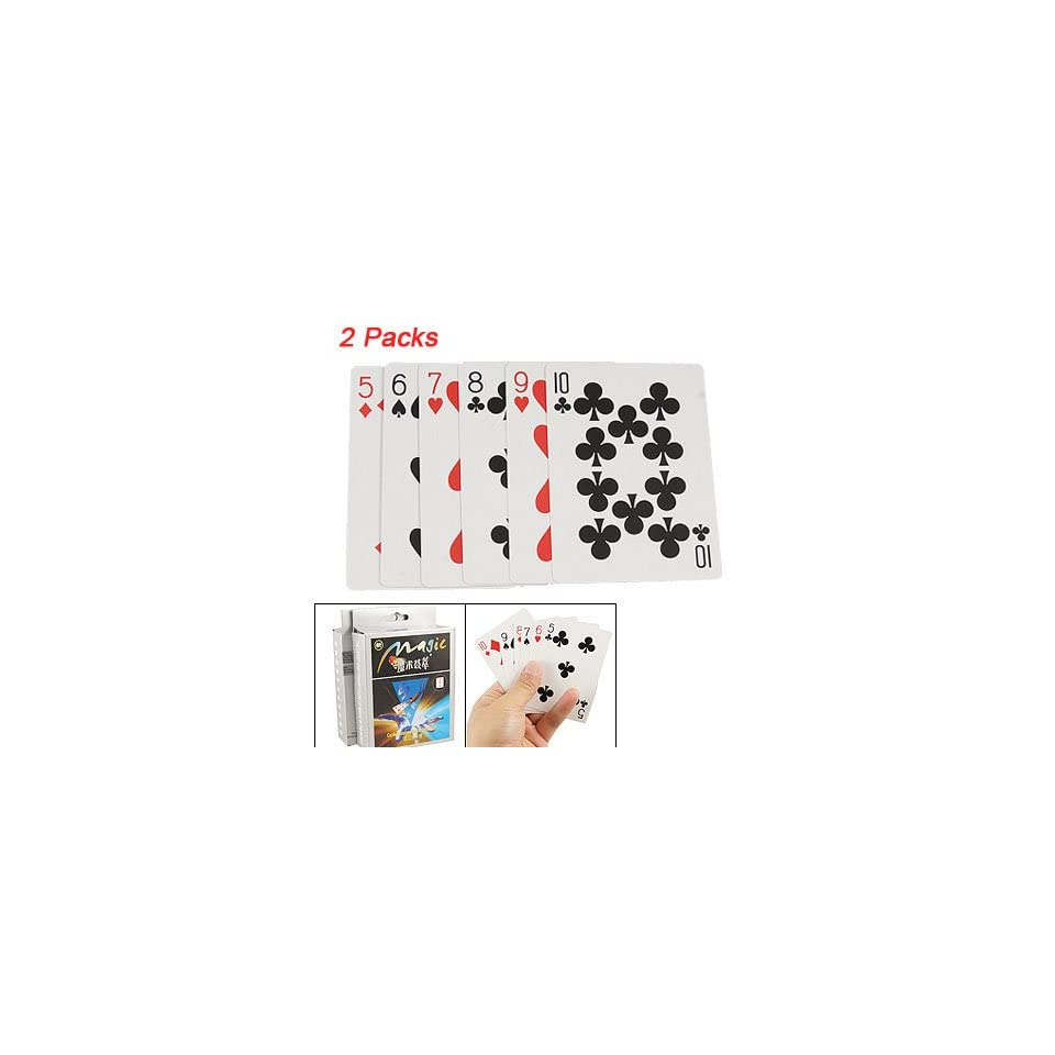 Como 2 Packs Playing Cards Disappearing Magic Trick Toy New