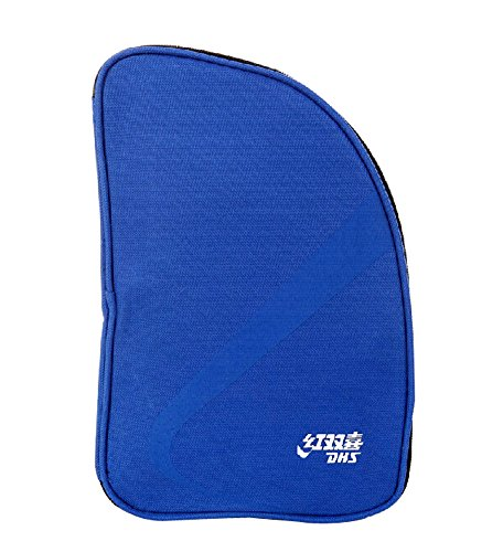 Table Tennis Equipment Fan-shaped Ping Pong Paddle Bag BLUE by Panda Superstore