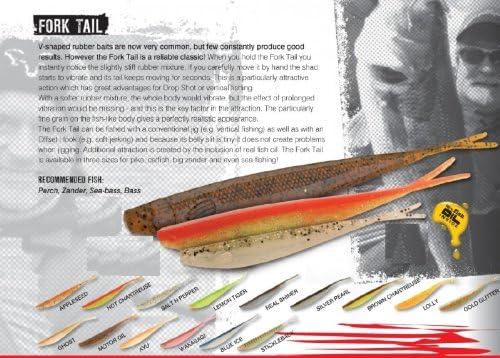V-Tail Köder 3 Fox Rage Gummifische Fork Tail Gummifisch Drop Shot 18cm