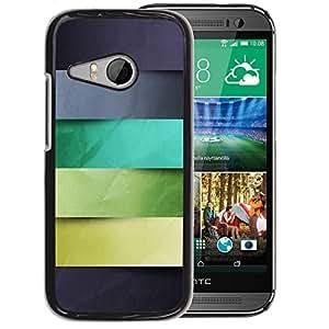 Planetar® ( Monotone Stripes Pattern Pastel ) HTC ONE MINI 2 / M8 MINI Fundas Cover Cubre Hard Case Cover