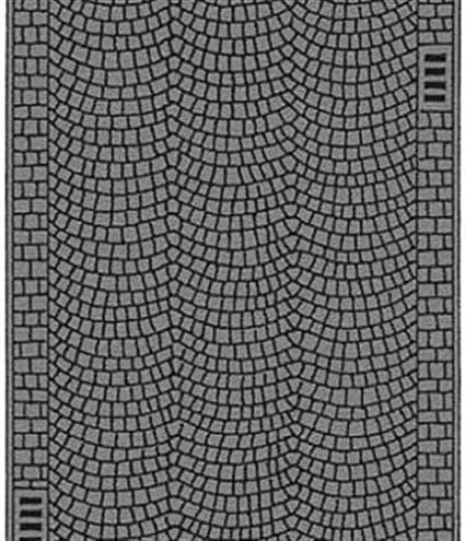 60722 Noch H0 Straßenfolie Kopfsteinpflaster