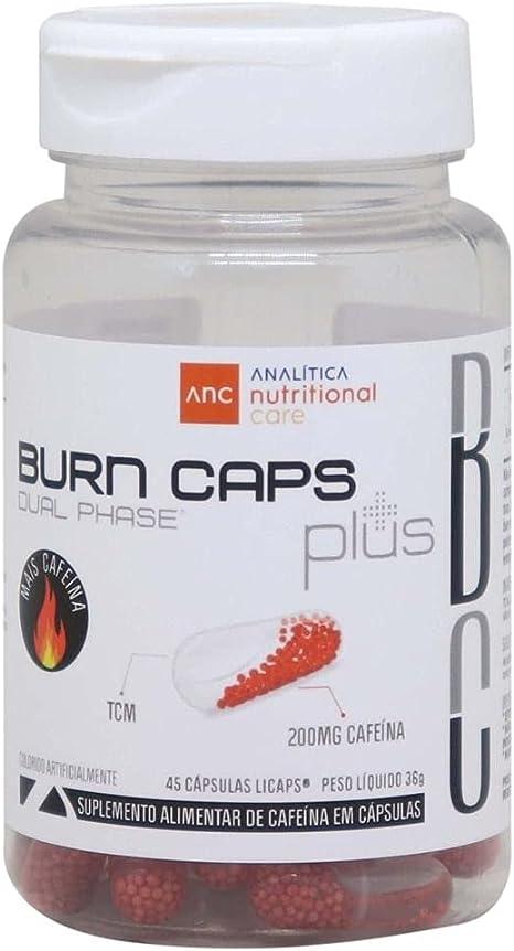 Termogênico Burn Caps Plus 45 Cápsulas 200mg Cafeína