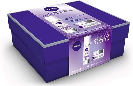 NIVEA Pack Hyaluron Cellular Filler, Crema de Día Antiedad y Serum Pearls set de belleza en estuche de regalo para una piel más firme y con más volumen: Amazon.es: Belleza