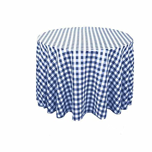 Round Checkered Tablecloth 90, 96, 108 And 120 Round. Multiple Colors  Available.
