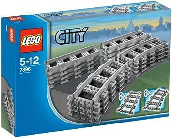 flexibel 16x Lego Eisenbahn-Schienen SEHR GUT