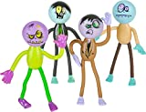 Rhode Island Novelty Lot 12 Assorted Bendable Zombie Theme Action Figures