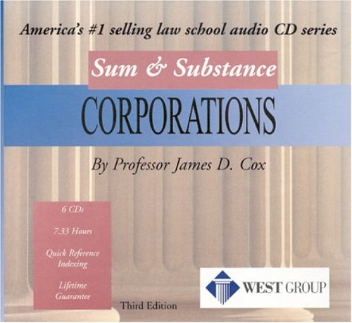 Cox's Sum And Substance Audio Set on Corporations by West Group