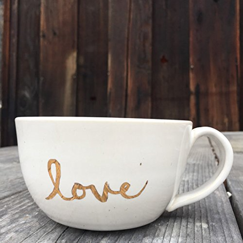 Love over-sized mug with 22K Gold Inspiration