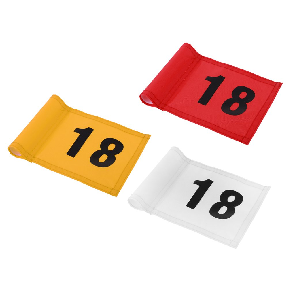 MagiDeal 3 Pieces Durable Nylon Backyard Outdoor Practice Golf Flag Golf Putting Green Flag with Number 18 by Unknown (Image #10)