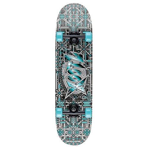 Xootz Kids Industrial Complete Beginners Double Kick Trick Skateboard Maple...