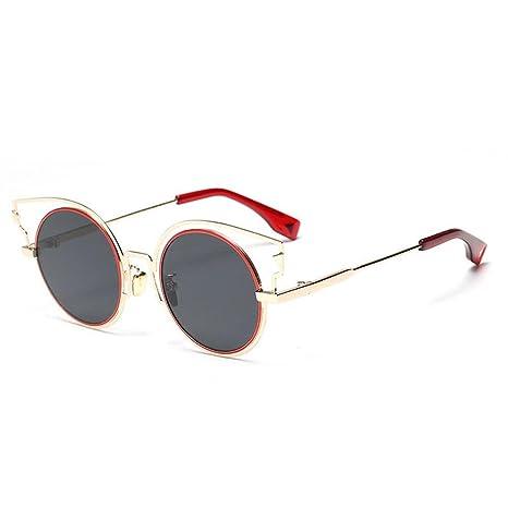 Z&YQ Occhiali da sole fashion Occhiali da vista in metallo con montatura in metallo anti-UV, A