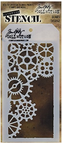 - Stampers Anonymous THS052 Gears Tim Holtz Layered Stencil, 4.125