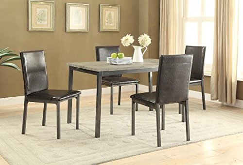 Coaster 100611-CO Dining Table, In Black