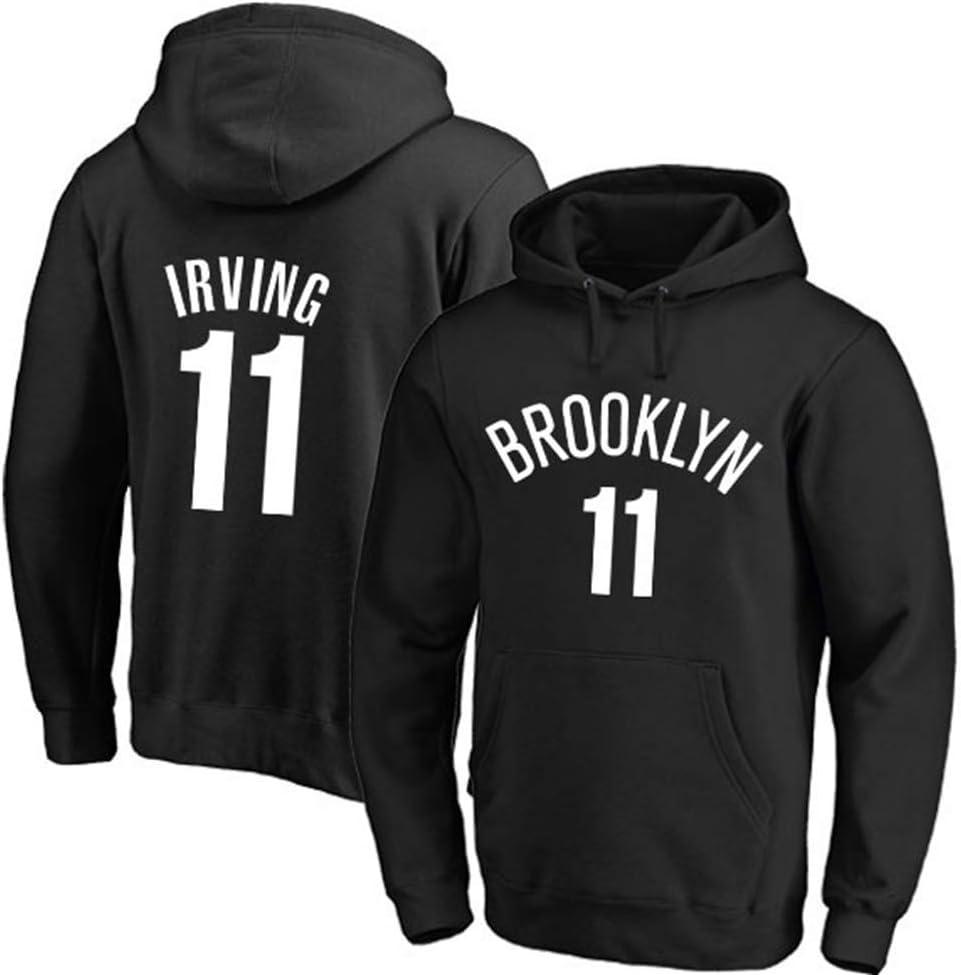 YSMART Sweat /à Capuche de Basket-Ball Masculin Nets Brooklyn # 11 Kyrie Irving Jersey Confortable Casual Formation de Basket-Ball Sweat-Shirt Pull avec Capuche