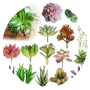 Various Artificial Succulent Plants Lotus Landscape Decorative Flower Mini Green Fake Succulents Plant Garden Arrangement Decor 41